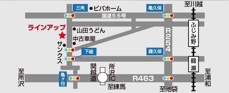ラインアップ地図