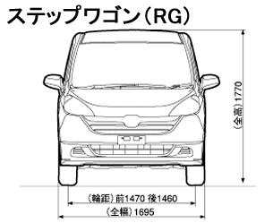 ステップワゴンRG 正面 サイズ