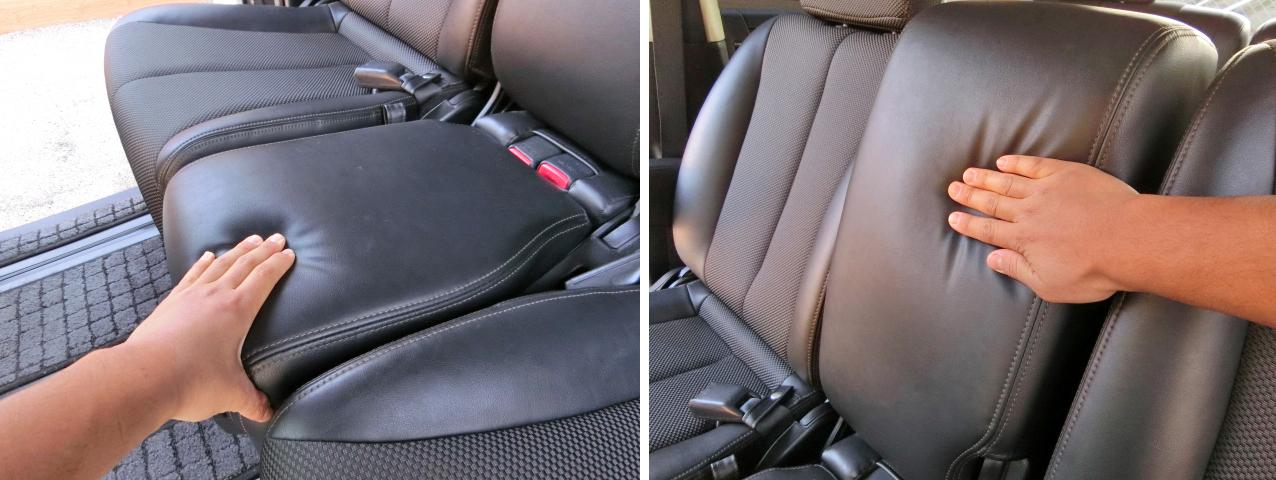 エルグランド E51 セカンドマルチセンターシート クッション性