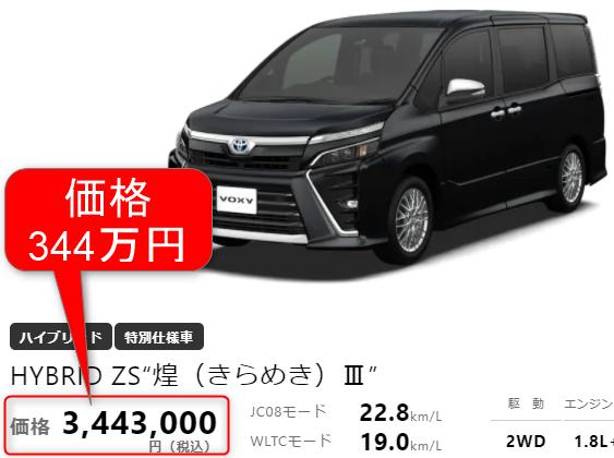 ヴォクシー新車価格